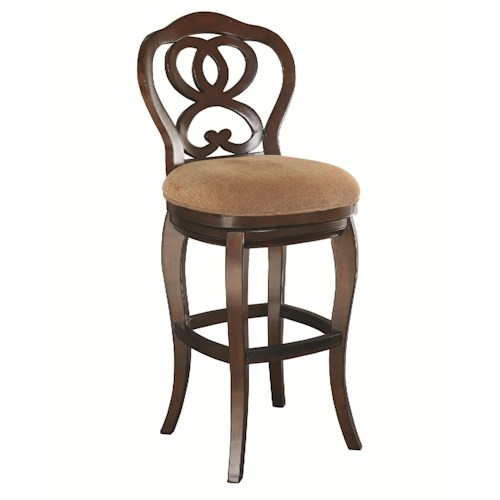 Morris Home Furnishings Hidden Treasures Ribbon Back Bar Stool