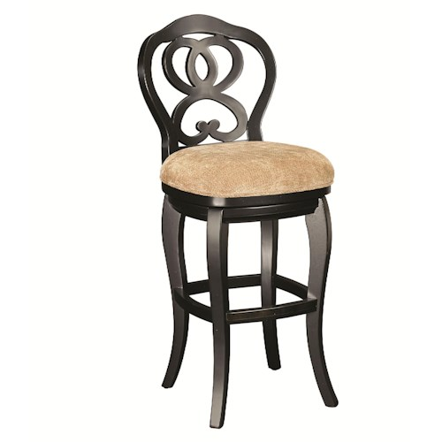 Morris Home Furnishings Hidden Treasures Ribbon Back Barstool