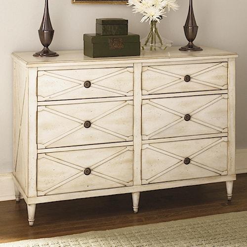 Morris Home Furnishings Hidden Treasures White Drawer Chest