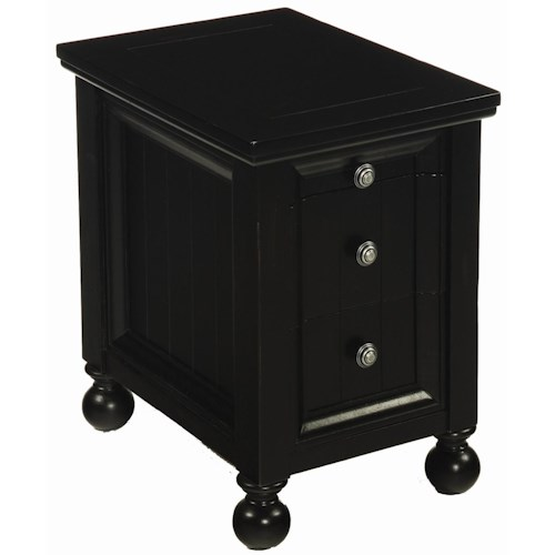 Morris Home Furnishings Hidden Treasures 3 Drawer Chairside Table
