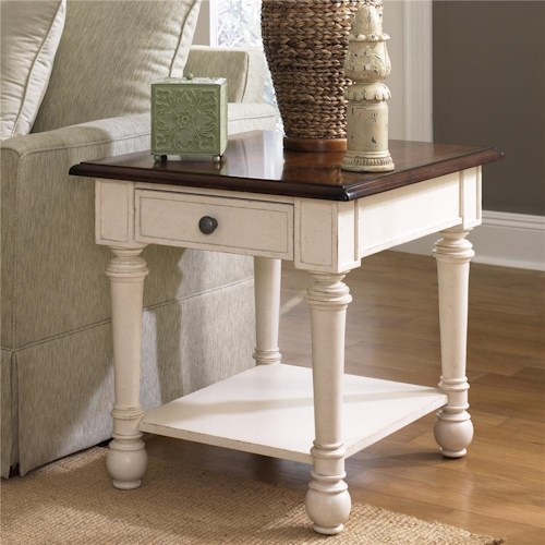 Morris Home Furnishings Promenade Rectangular Drawer End Table