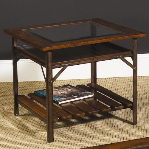 Hammary Mercantile Rectangular End Table