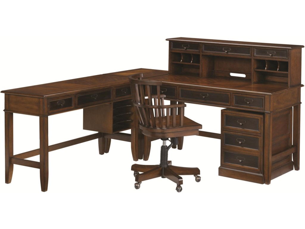 Shown with Desk Chair, Rolling File, Hutch and Credenza