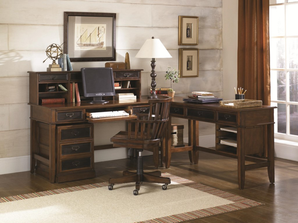 Shown with Desk Chair,Rolling File, Hutch and Credenza