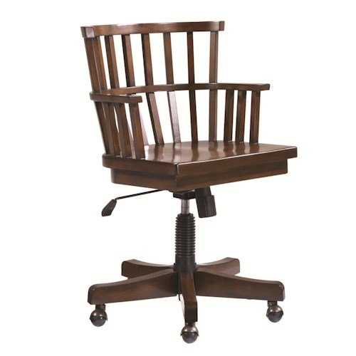 Morris Home Furnishings Mercantile Desk Chair on Casters