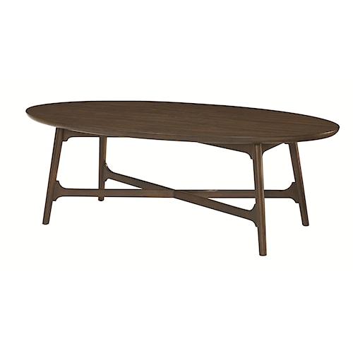 Hammary Mila Oval Cocktail Table