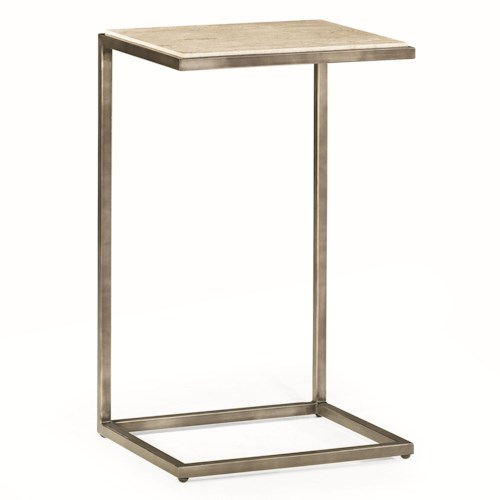 Morris Home Furnishings Modern Basics Rectangular Accent Table with Bronze Finish