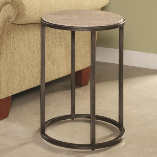 Hammary Modern Basics Round End Table with Bronze Finish
