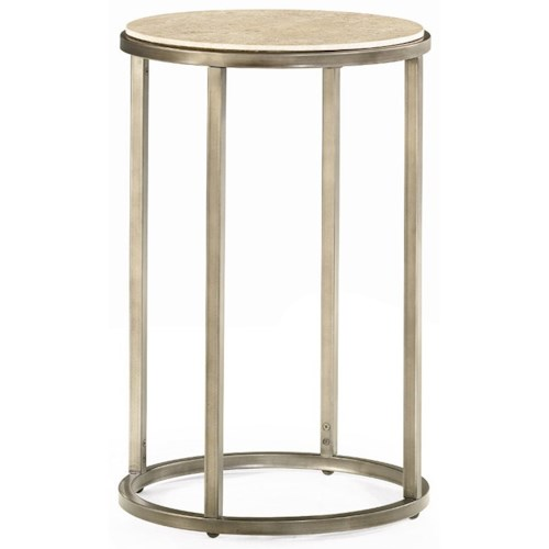 Morris Home Furnishings Modern Basics Round End Table with Bronze Finish