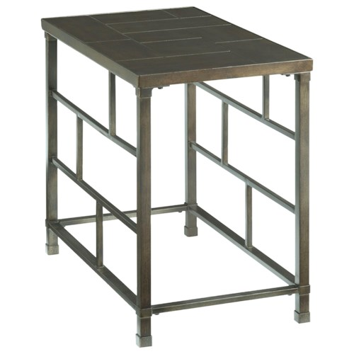 Hammary Newton Chairside Table with Grid Accents