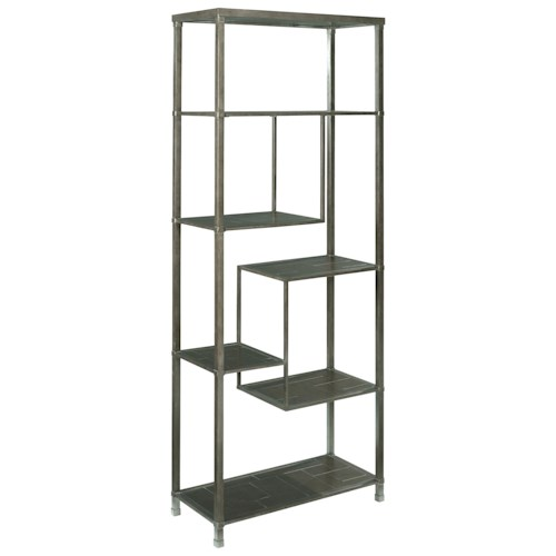 Hammary Newton Etagere Bookcase with 6 Shelves