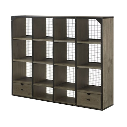 Morris Home Furnishings Parsons Desk Hutch with Open Shelf Storage and Mesh Back