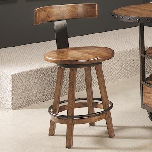 Morris Home Furnishings Americana Home Klismo Back Wood Stool