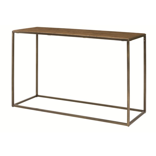 Hammary Soho Rectangular Sofa Table with Rubbed Bronze Metal Base