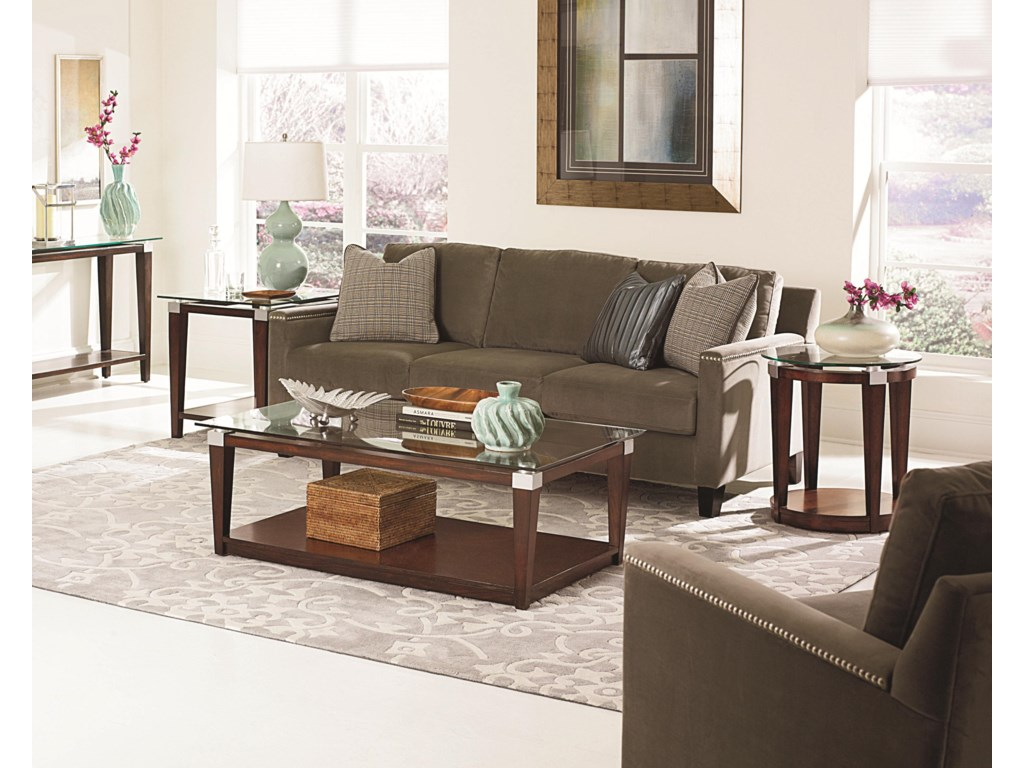 Shown with Sofa Table, Rectangular Coffee Table, and Round Accent Table