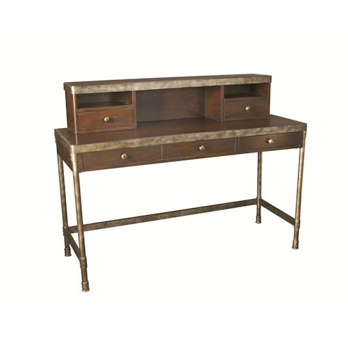 Hammary Structure Metal Computer Desk w/ Hutch