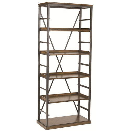 Morris Home Furnishings Studio Home Mission 4-Shelf Open Bookcase