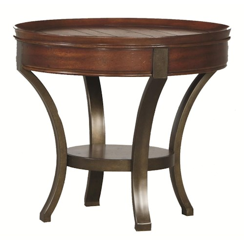 Hammary Sunset Valley Metal Base Round End Table