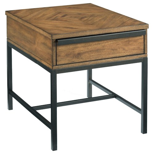 Hammary Sympli Rectangular End Table with One Drawer
