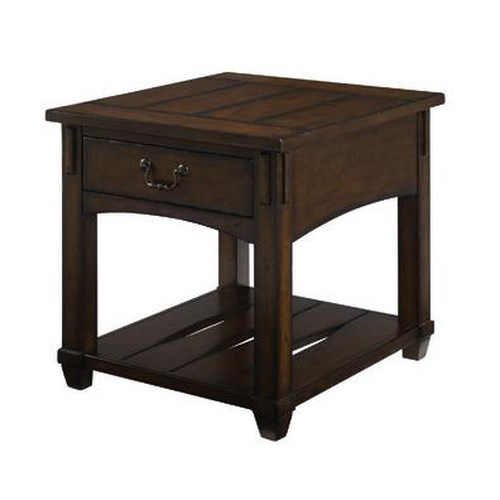 Morris Home Furnishings Tacoma  Rectangular  Mission Drawer End Table