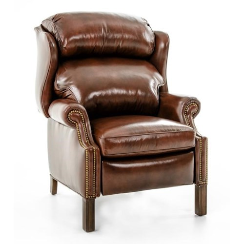 Hancock & Moore Motion Seating Woodbridge Chippendale Wing Chair Recliner
