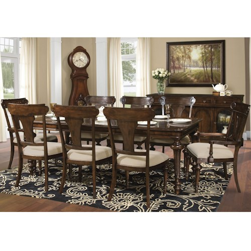 Hekman Charleston Place Dining Table And Side And Arm