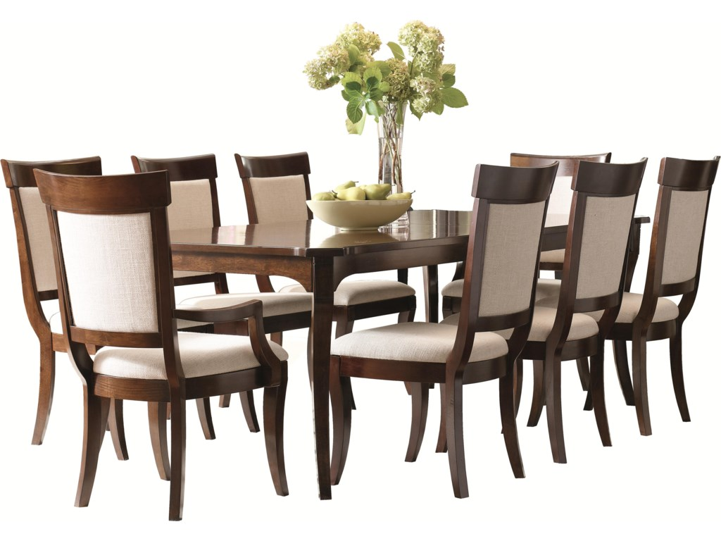 Shown with Coordinating Collection Leg Dining Table and Upholstered Side Chairs