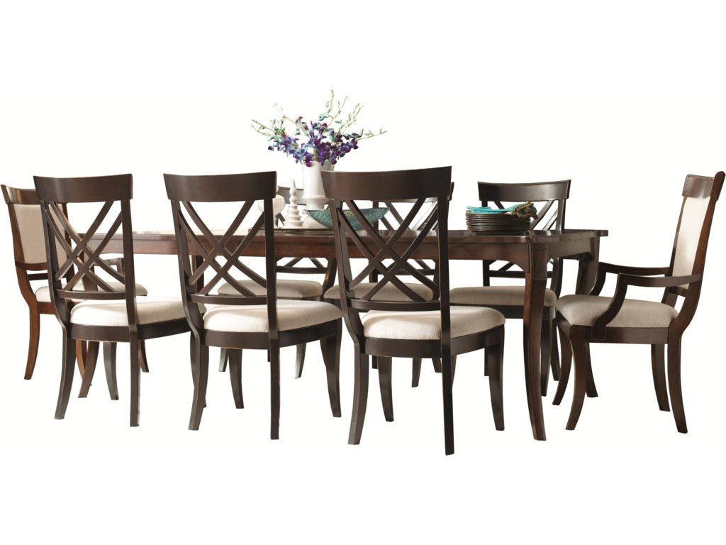 Shown with Coordinating Collection Leg Dining Table and X Back Side Chairs