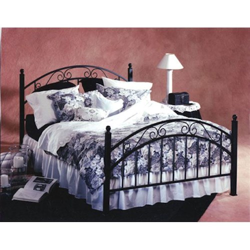 Hillsdale Metal Beds Willow King Metal Bed