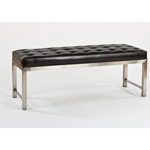 Hillsdale Accents Contemporary Bench with Metal Base