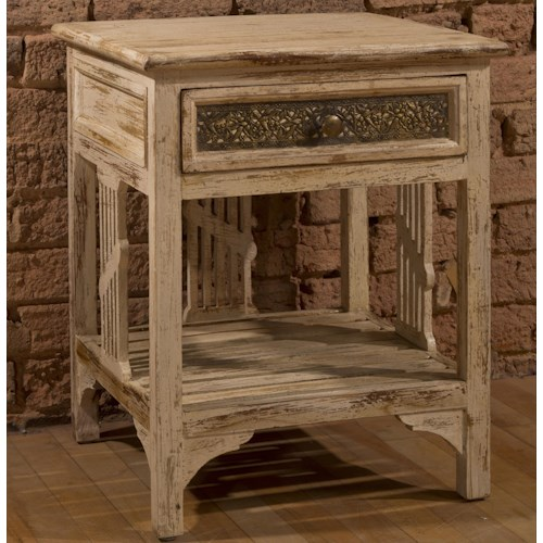 Morris Home Furnishings Accents End Table Shelf Stand