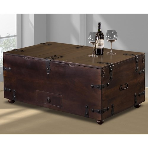 Hillsdale Accents Coffee Table with Built in Bar Storage