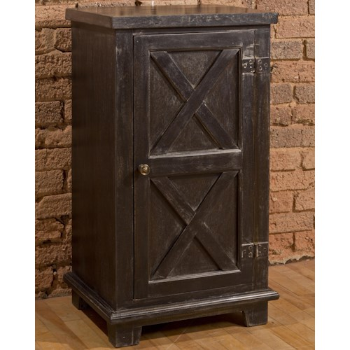 Morris Home Furnishings Accents X Design One Door Accent Cabinet