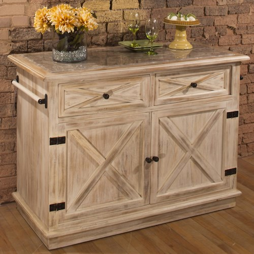 Hillsdale Accents Kitchen Island with Cabinet and Drawer Storage