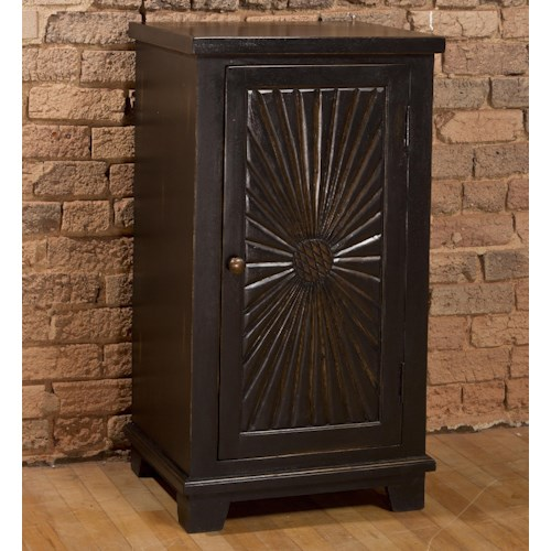 Hillsdale Accents Wooden Cabinet with Sunburst Design
