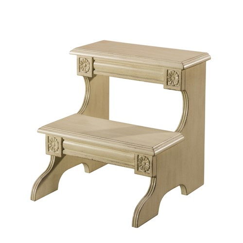 Hillsdale Accents Step Stool with Hand Carved Detailing