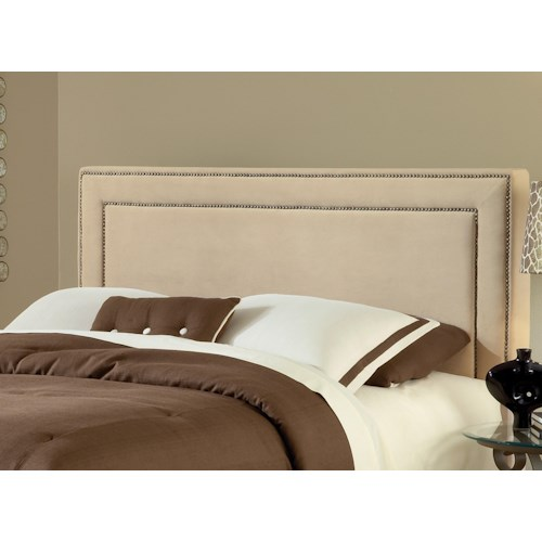 Hillsdale Amber Buckwheat Upholstered Queen Headboard with Rails
