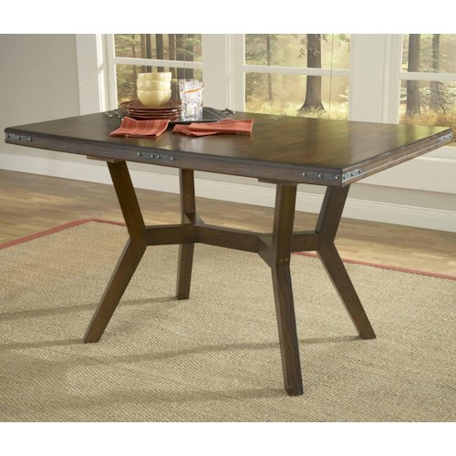 Morris Home Furnishings Arbor Hill Rectangular Leg Extension Dining Table
