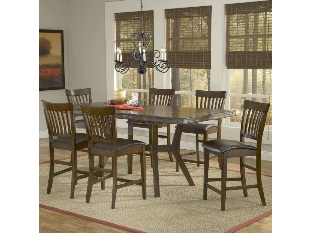 Shown with Counter Stools as Seven Piece Set