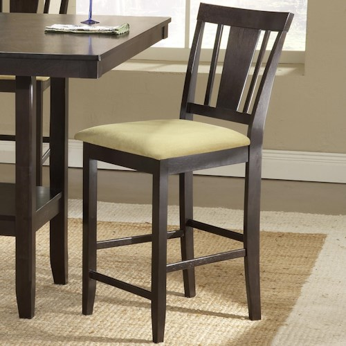 Morris Home Furnishings Arcadia Counter Height Stool with Beige Seat