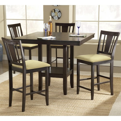 Morris Home Furnishings Arcadia 5 Piece Counter Height Table Set