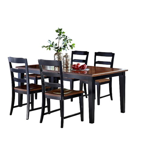 Morris Home Furnishings Avalon 5 Piece Table & Chair Set