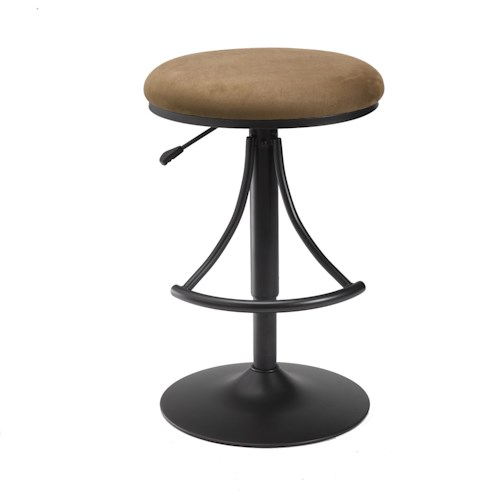 Morris Home Furnishings Backless Bar Stools Venus Backless Swivel Bar Stool