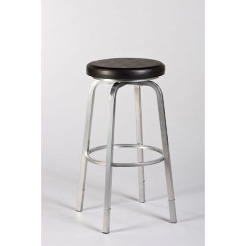 Morris Home Furnishings Backless Bar Stools Neeman Backless Counter/ Bar Stool with Nested Legs