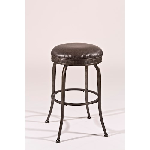 Morris Home Furnishings Backless Bar Stools Black Backless Swivel Counter Stool