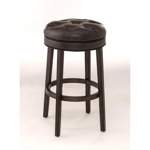 Hillsdale Backless Bar Stools Backless Swivel Bar Stool with Upholstered Seat