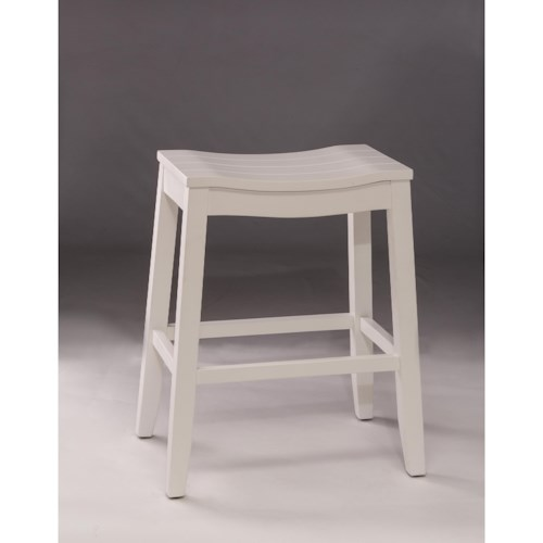 Morris Home Furnishings Backless Bar Stools White Backless Non-Swivel Counter Stool