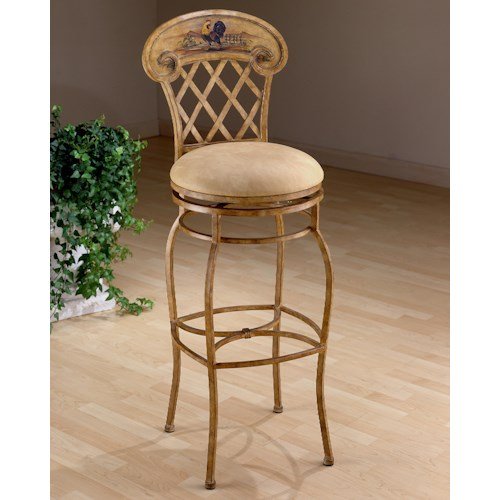 Hillsdale Metal Stools Rooster Counter Height Stool