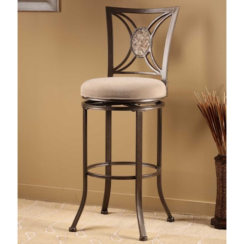 Hillsdale Metal Stools Rowan Swivel Counter Stool