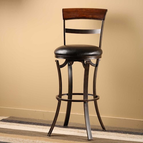 Morris Home Furnishings Metal Stools  Kennedy Swivel Bar Stool